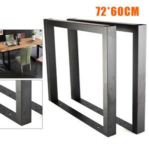 Set Of 2 Steel Table Legs 28 X 24 Dining Table Legs Diy Coffee Shop Table Leg Ebay
