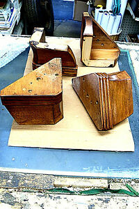 4pcs solid wood Sofa Leg 4 1/2'' Furniture Cabinet med.brown Feet Home Decor