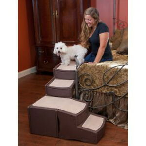 NEW-Pet-Gear-Easy-Steps-Dog-Cat-Bed-Stair-for-Small-to-Medium-Pets-PG9760CH