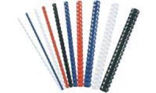 10mm rot rund Fellowes Plastikbinderücken