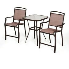 Groovy Patio Furniture Set Red 3 Piece Outdoor Bistro Table Chair Customarchery Wood Chair Design Ideas Customarcherynet