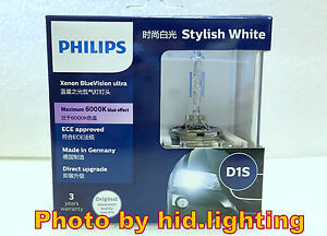 2x philips hid xenon blue vision ultra car headlight bulb. Black Bedroom Furniture Sets. Home Design Ideas