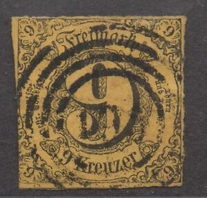 *german States Thurn & Taxis Sc# 46a, Used, Fvf, No Wmk, Pale Orange/yellow Handicap Structurel