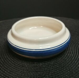 Vintage-Delft-Blue-Hand-Painted-Made-in-Holland-5-034-Planter-Bowl-Blue-Stripes
