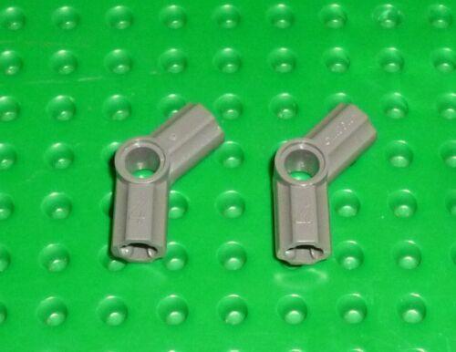 LEGO TK1438 32192 TECHNIC AXLE /& PIN CONNECTORS ANGLED #4 DARK GREY x 2