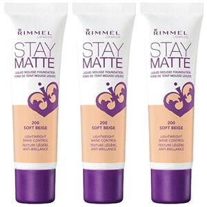 quantité limitée soldes design élégant Details about (3 Pack) NEW Rimmel Stay Matte Liquid Mousse Foundation Soft  Beige 200, 1 Ounce