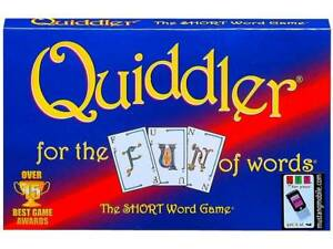 QUIDDLER CARD GAME Family Party Travel Board Game Birthday Christmas ...