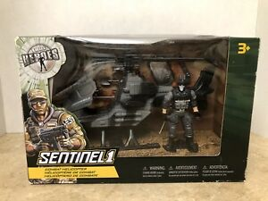 True-Heroes-Sentinel-1-GI-Joe-Combat-Helicopter-Playset-Gray-amp-Black-New