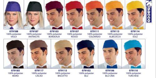 ISACCO Sachet 33 Colours Butcher Baker Waiter Pizza Chef Hat