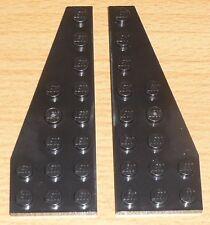 Lego Star Wars 2 Flügelplatten 8 x 3 in schwarz