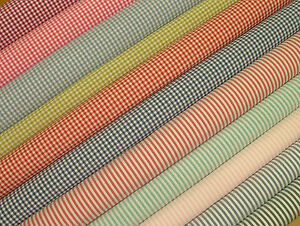 Woven-Gingham-Cotton-Upholstery-Curtain-Quilting-Craft-Fabric-SOLD-IN-15-COLOURS