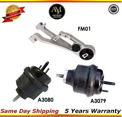 M934 Trans Engine Motor Mount For 05-07 Ford Freestyle 500 3.0L 3079 3080*2 FM01