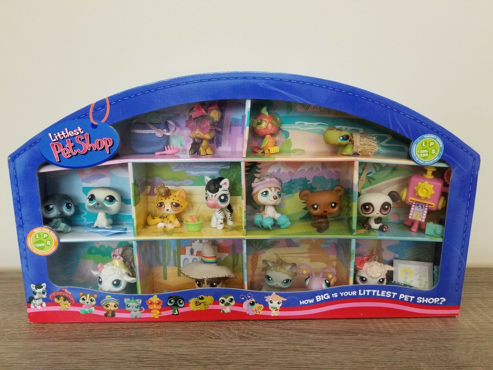 Littlest Pet Shop Around the World Used in Box Rare Target Exclusive 2007