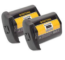 2x Patona Akku 10,8V 2600mAh kompatibel zu Canon LP-E4 - EOS 1D + 1Ds Mark III