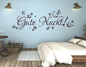 Wandtattoo, Wandspruch Kinderzimmer junge Mädchen Gute Nacht Mond ...
