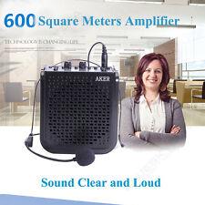 Aker 25W Loud Voice Booster AMP Speaker Amplifier w/ Headset Microphone Portable