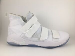 buy popular 0acd4 53e39 Details about Size 18 Nike LeBron Soldier XI Cool Grey Platinum James Mens  Shoe White