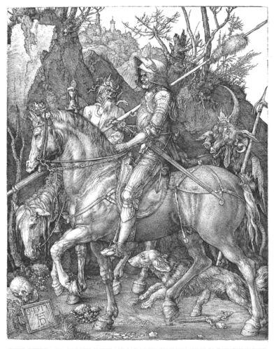 A Knight Death and the Devil by Albrecht Dürer Print