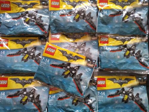 Lego Batman le Mini Chauve-souris 30524 X 10 transparentes joblots Entièrement neuf sous emballage
