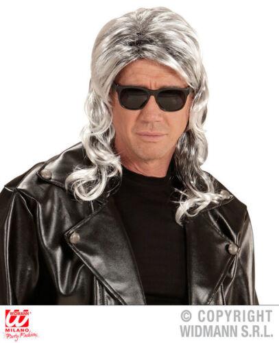 Grey 80S Mullet Wig 1980S Rocker Fancy Dress Costume Accessory Adult