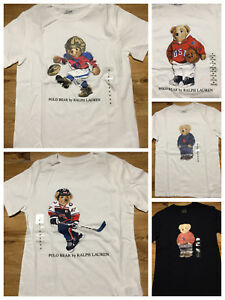 9e23329ae8 Details about POLO BEAR BY RALPH LAUREN T SHIRT BOYS KIDS BIG PONY tee  multi size