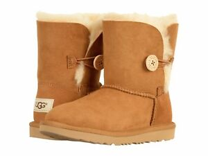 a66bc7fc196 NEW TODDLER INF UGG BOOT BAILEY BUTTON II CHESTNUT ORIG WATER ...