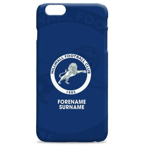 BOLD CREST Personalised Hard Back Phone Cover Millwall F.C