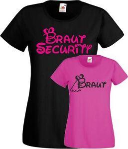 Braut Security Frauen T Shirt Jga Junggesellinnenabschied Braut