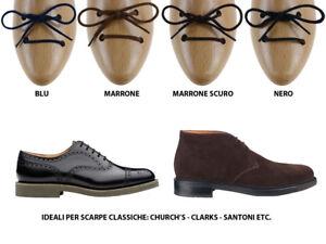 7ed8faf483 Dettagli su Lacci scarpe tondi fini in cotone per scarpe classiche da uomo