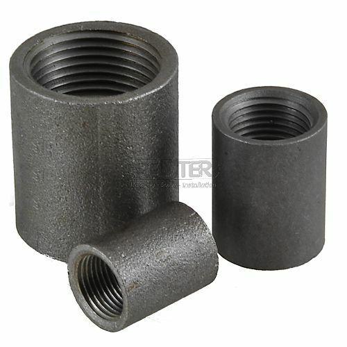 Stahl Schweißmuffe Anschweißmuffe schwarz