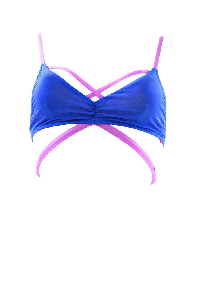 L'Agent by Agent Provocateur Women's Alexie Bikini Top bluee Purple RRP  BCF85