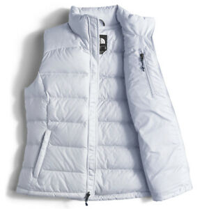95d6cc763 Details about New Womens The North Face Nuptse 2 700 Fill Down Arctic Ice  Blue Puffer Vest L