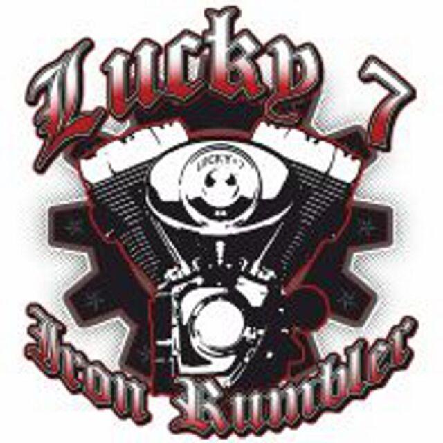 Las mujeres t shirt negro HD motorr Biker /& Chopper motivo modelo Lucky 7 Iron rumber