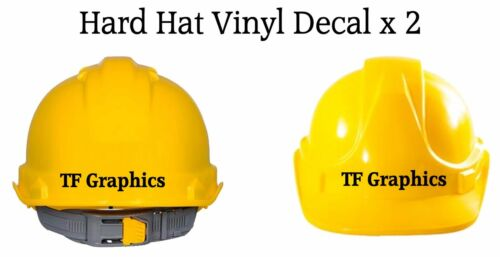 Personalised Hard Hat Vinyl Decal Safety Helmet Sticker Site Manager Boss Name