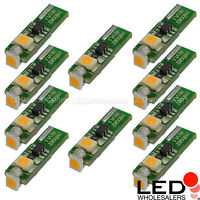 T5 74 Mini-wedge Led Bulb W/ 3xsmd3528 12vdc (10-pack), Various Colors Available