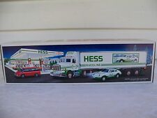 1992 Christmas Holiday Hess Toy 18 Wheeler Truck and Racer NIB