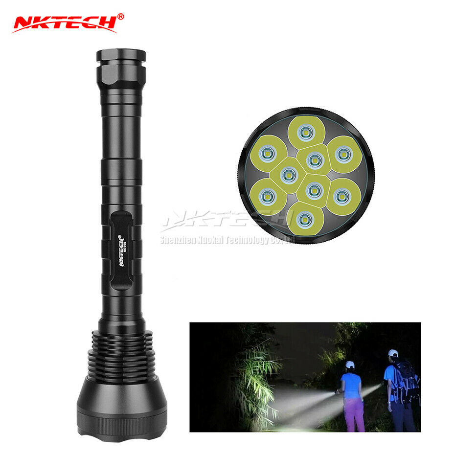 NKTECH NK-9T6 9x T6 LED 11000LM Fahrrad Taschenlampe Stirnlampe Wandern Torch