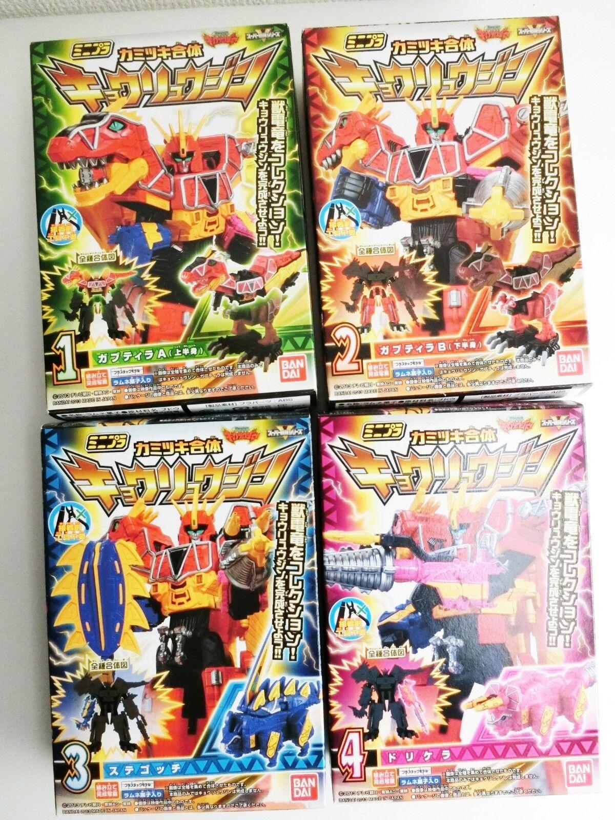 Bandai Kyoryuger Zyudenryu kyoryujin minipura figura todos 4 juego completo de Japón