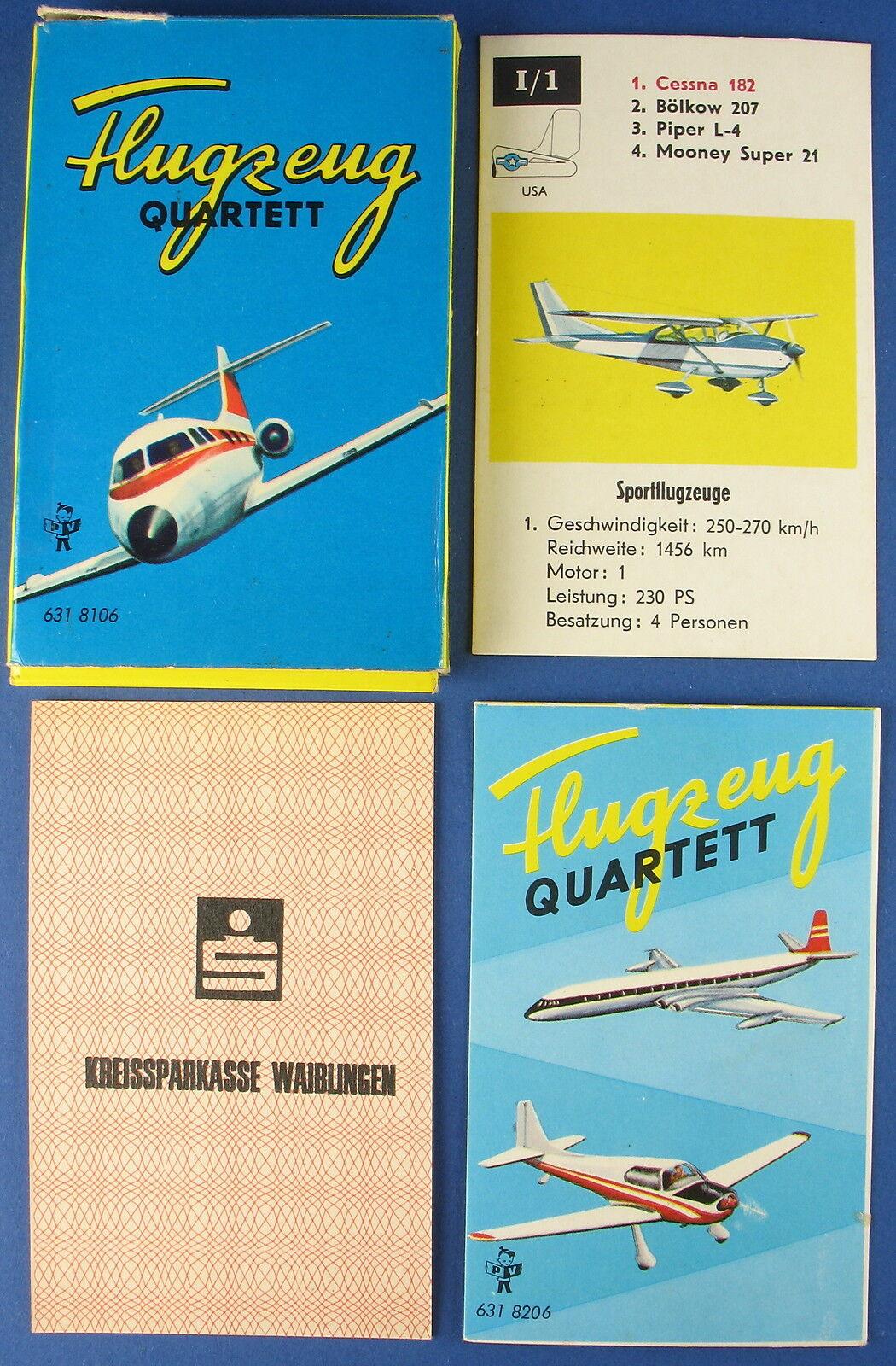 Werbe-Quartett - Flugzeug - Kreissparkasse WN - Pestalozzi Nr. 631 8106 - 1969