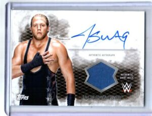 WWE-Jack-Swagger-2015-Topps-Undisputed-Autograph-Relic-Card-Blue