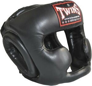 Twins-Trainings-Kopfschutz-Headguard-Muay-Thai-Kickboxen-Boxen-Jochbein-Kinn