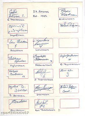Verantwortlich 17 Orig.autogramme Ia Akranes (island) Europacup 1985 !! Sehr Selten