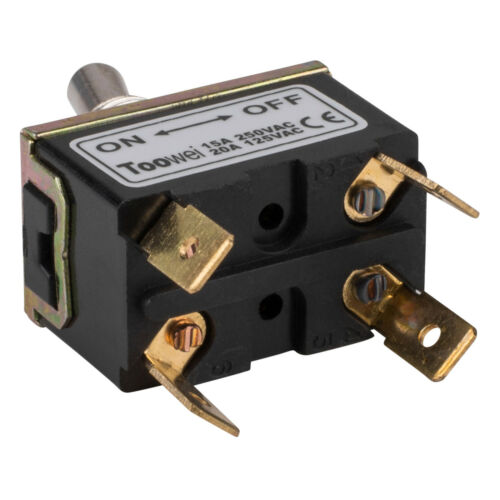 DPST On//Off Toggle Switch 4 Spade 20A 125VAC 2 Position