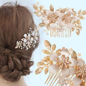 Jewelry-Golden-Leaf-Flower-Hair-Pin-Bridal-Clips-Bridesmaid-Tiara-Hair-Combs