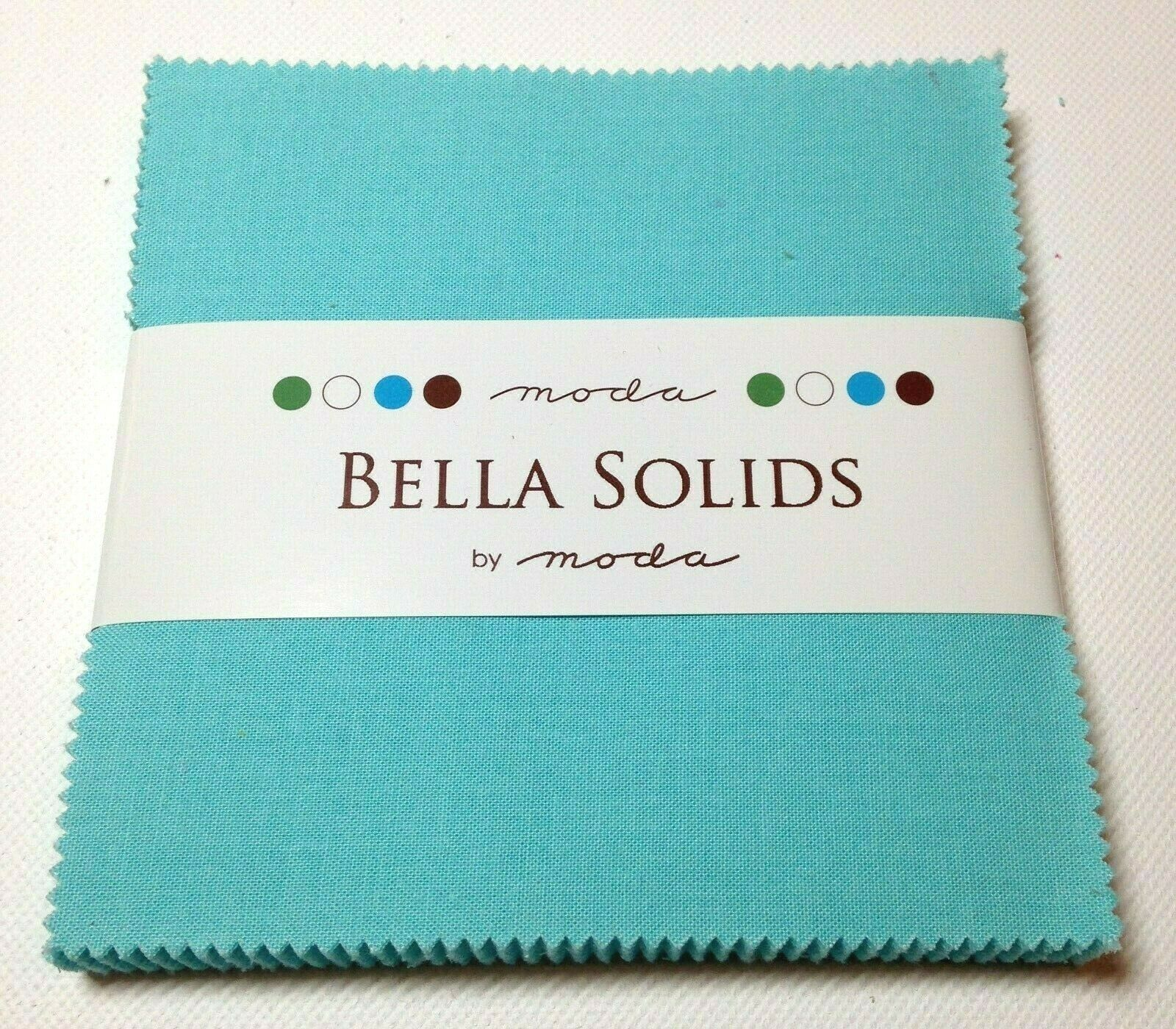 Christmas Green Moda Bella Solids Charm Pack by Moda Fabrics; 42-5 Quilt Squares