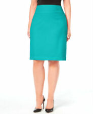 Alfani Women's Pencil Skirt, 24W Aqua Blue Teal Beach Career Dressy