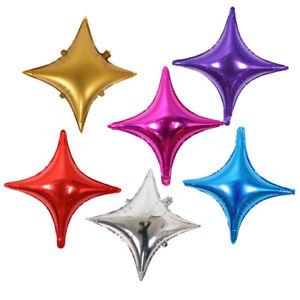 UK/_ 24INCH 4-POINTED STAR ALUMINUM FOIL BALLOON VALENTINES DAY BIRTHDAY DECOR SM