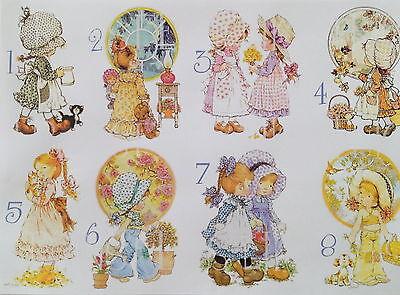 1 Din A4 Bogen vintage Sarah Kay b helle Transferfolie Applikation shabby chic