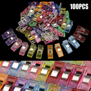100PCS-Plastic-Quilter-Holding-Wonder-Clips-Clamps-Knitting-Sewing-Craft-Binding