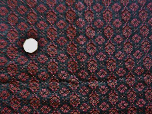 ITALIAN   JACQUARD-BLACK//RED DRESS FABRIC